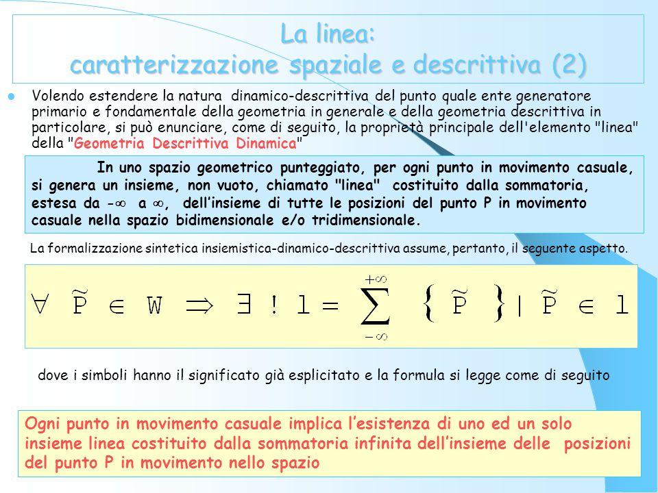 La linea: caratterizzazione spaziale e descrittiva (2)