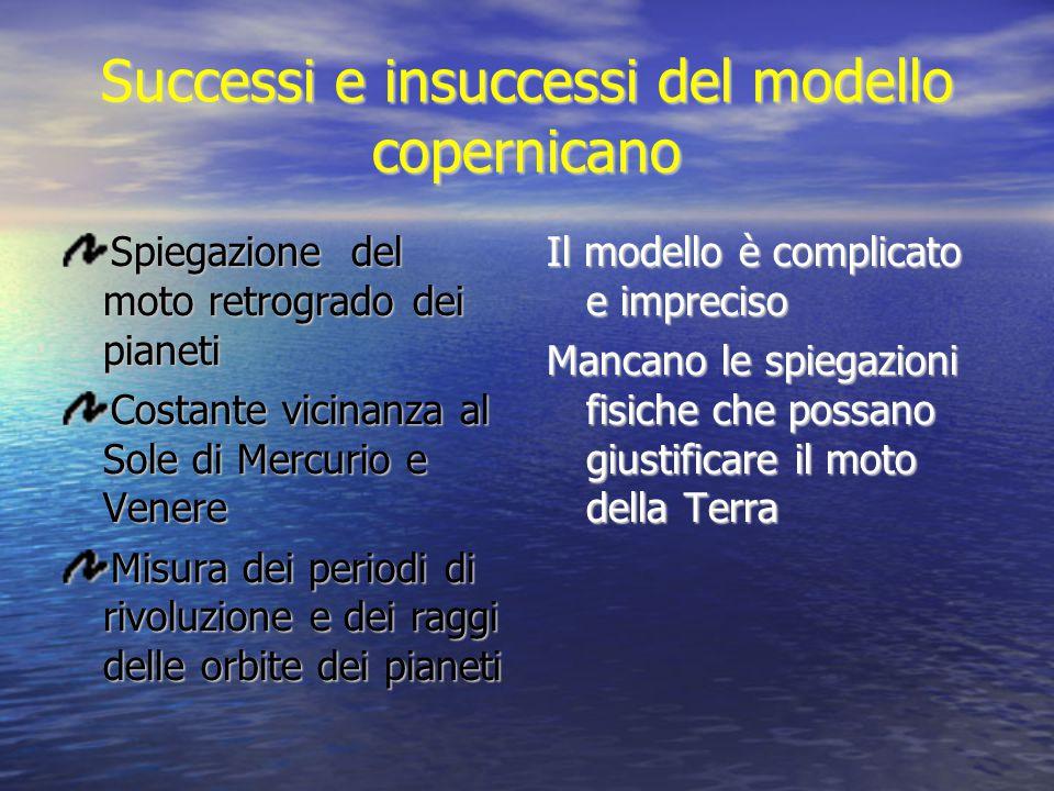 Successi e insuccessi del modello copernicano