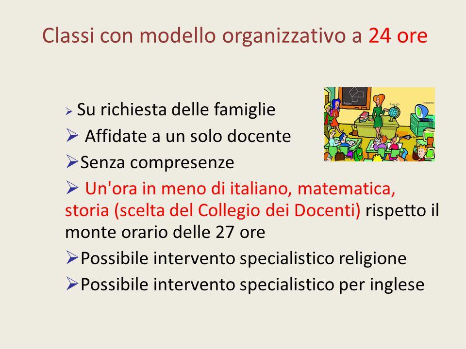 Classi con modello organizzativo a 24 ore