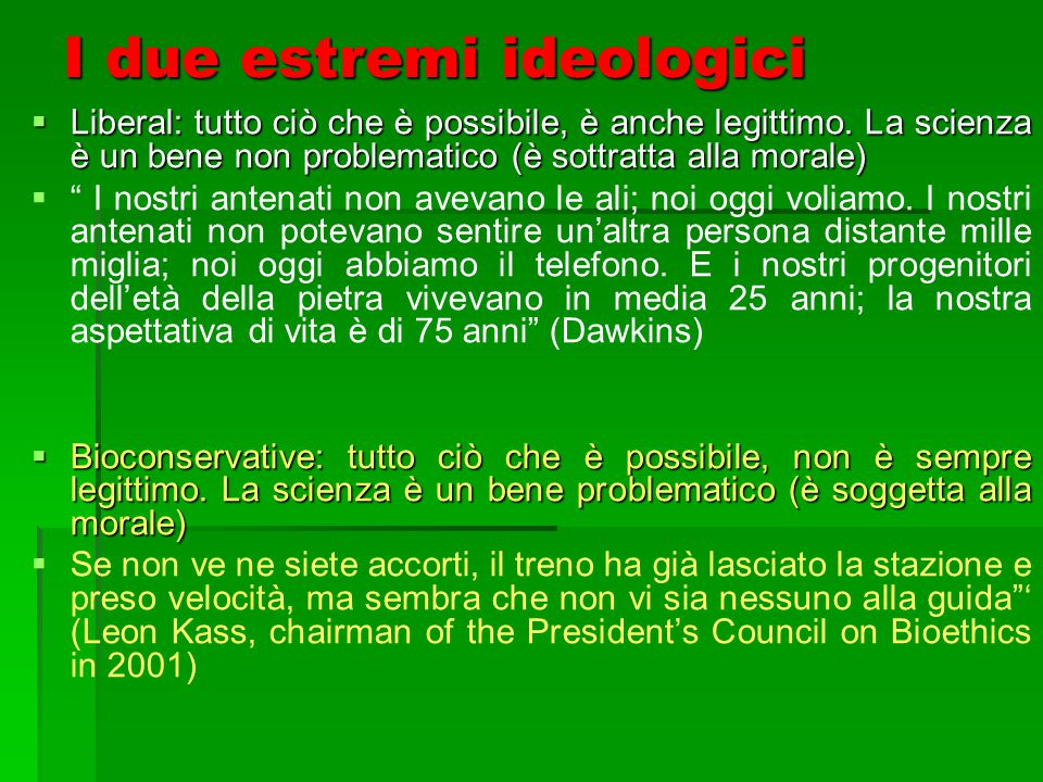 I due estremi ideologici