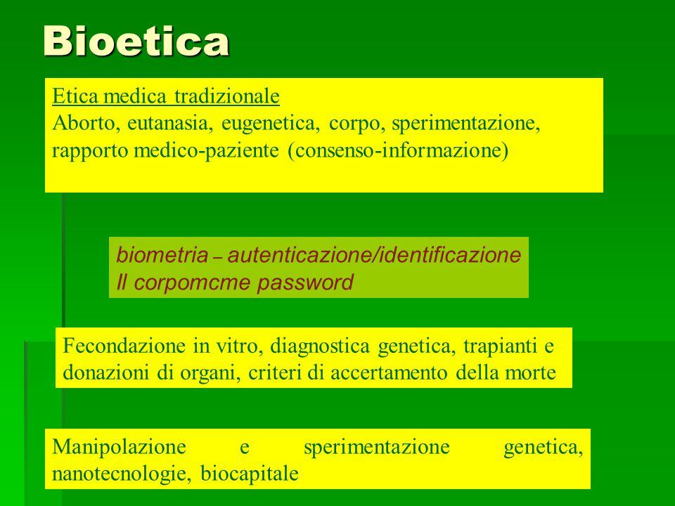 Bioetica Etica medica tradizionale