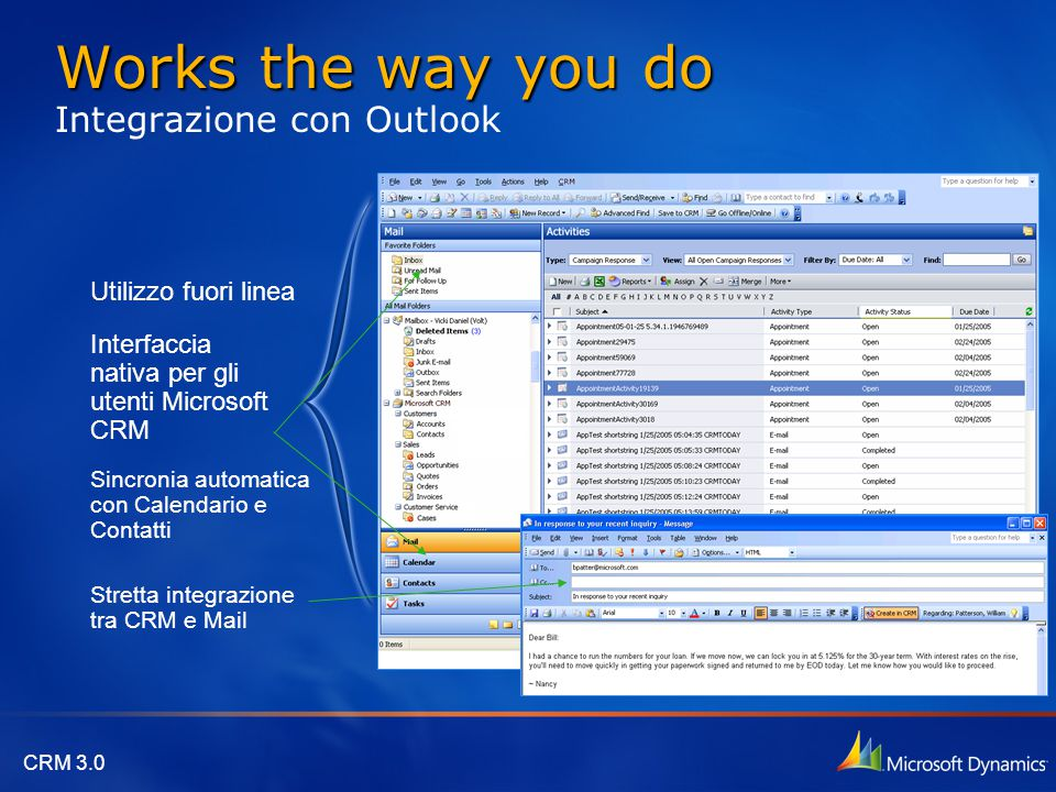 Works the way you do Integrazione con Outlook