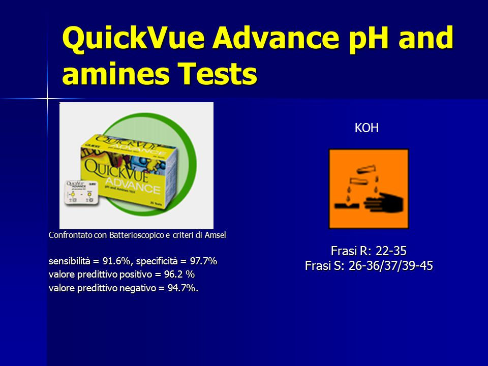 QuickVue Advance pH and amines Tests