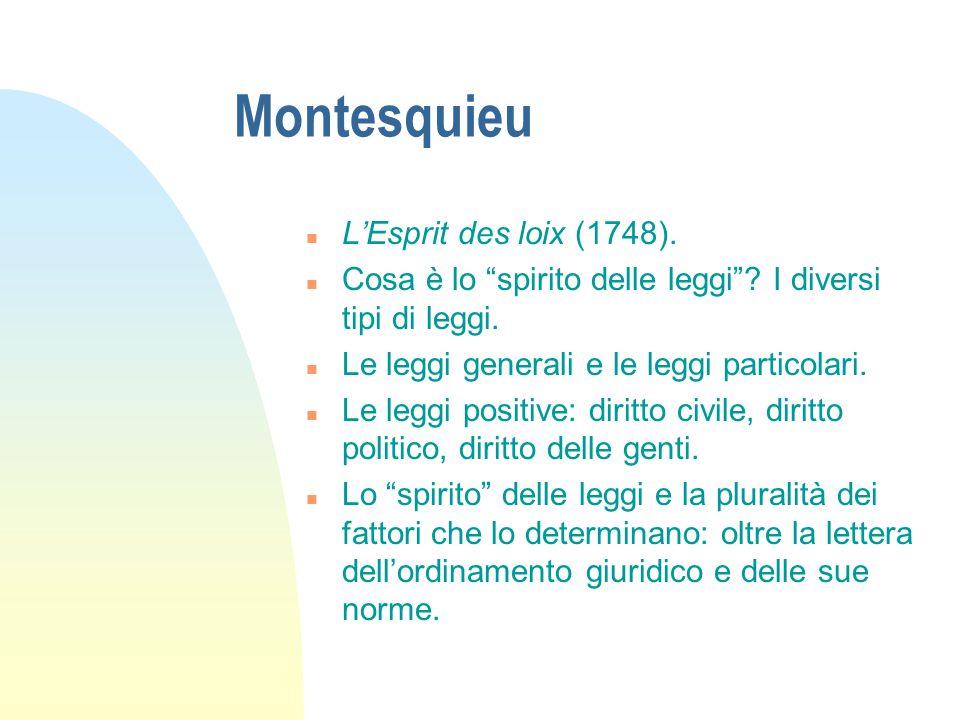 Montesquieu L'Esprit des loix (1748).