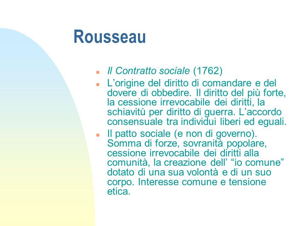 Rousseau Il Contratto sociale (1762)