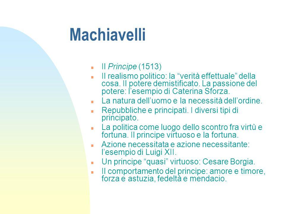Machiavelli Il Principe (1513)