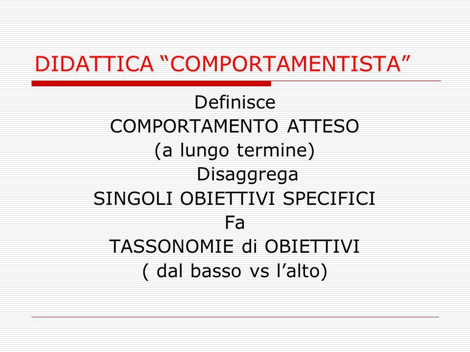 DIDATTICA COMPORTAMENTISTA
