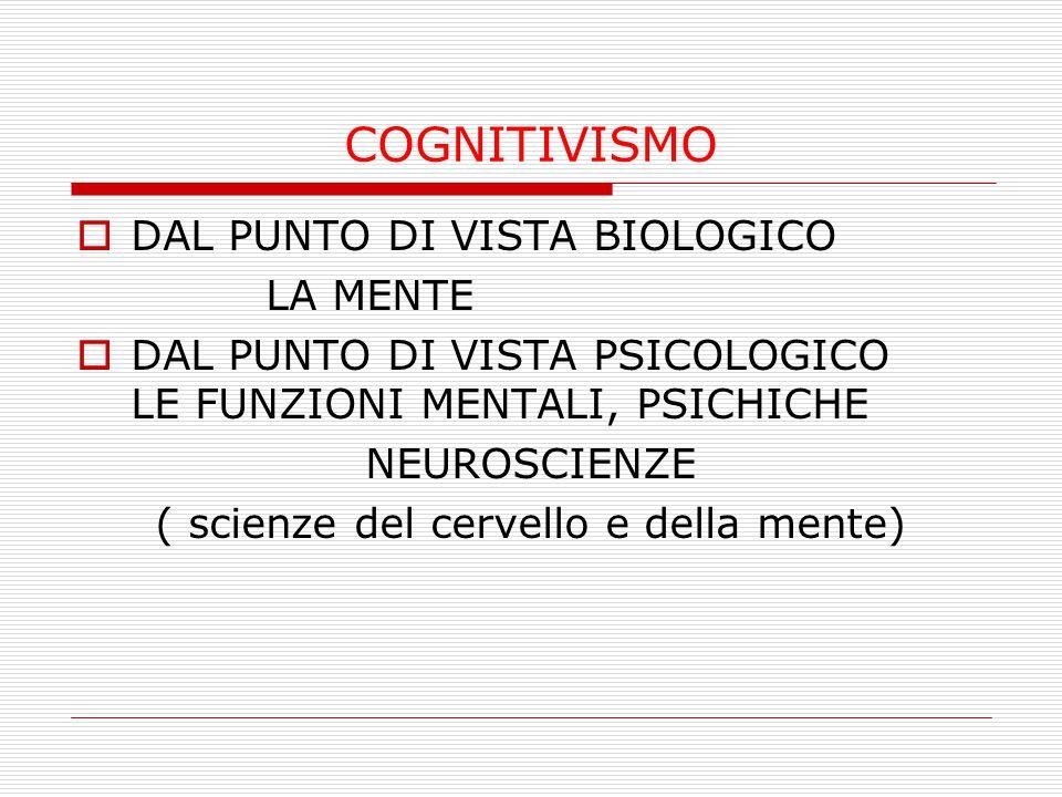 ( scienze del cervello e della mente)