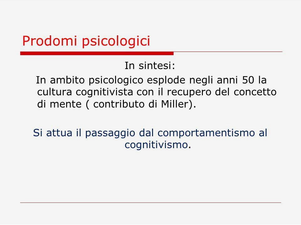 Prodomi psicologici