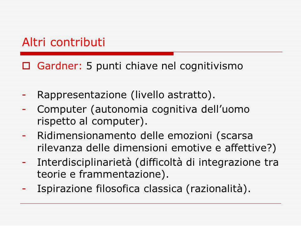 Altri contributi Gardner: 5 punti chiave nel cognitivismo