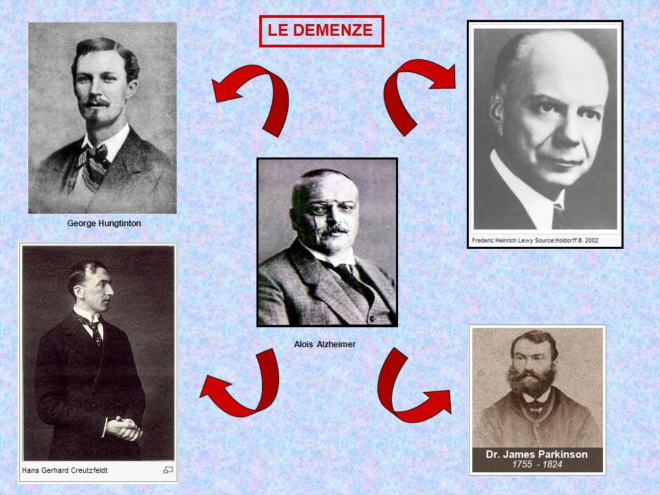 LE DEMENZE George Hungtinton Alois Alzheimer