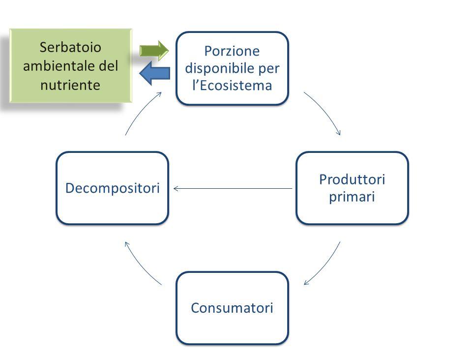 Serbatoio ambientale del nutriente