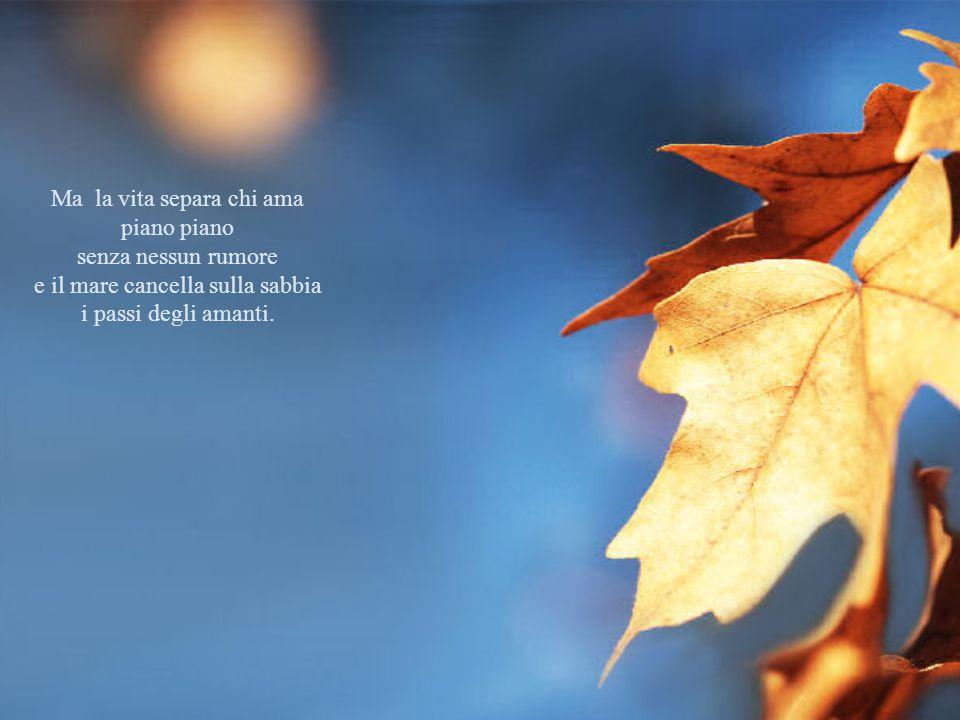 Ma la vita separa chi ama piano piano senza nessun rumore