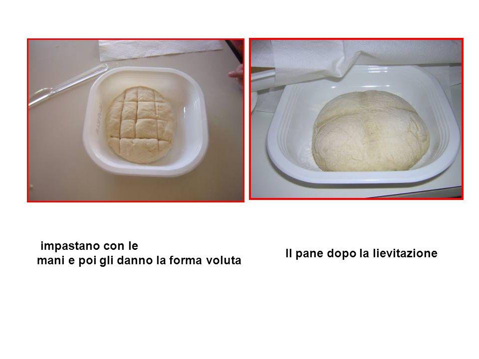 Il pane dopo la lievitazione