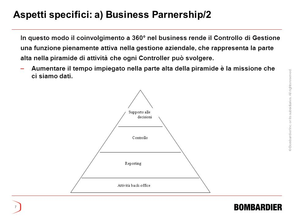 Aspetti specifici: a) Business Parnership/2