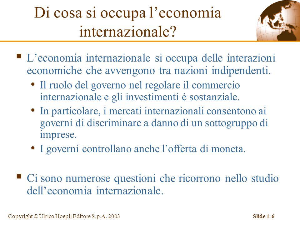 Di cosa si occupa l'economia internazionale