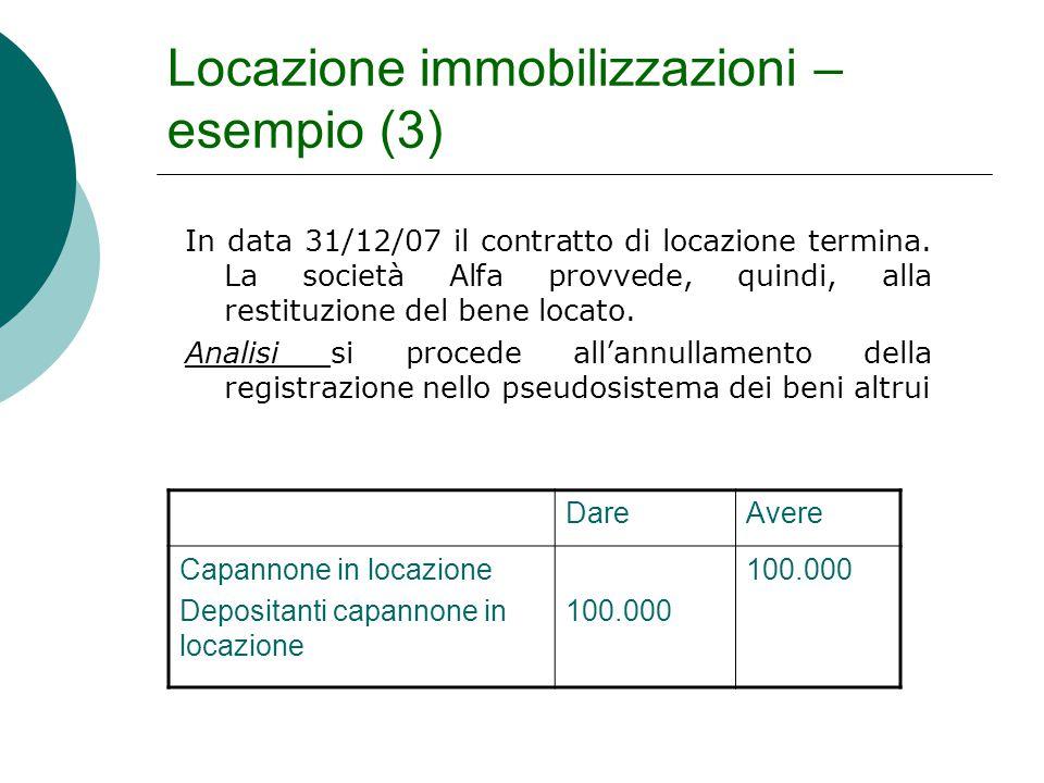Locazione immobilizzazioni – esempio (3)