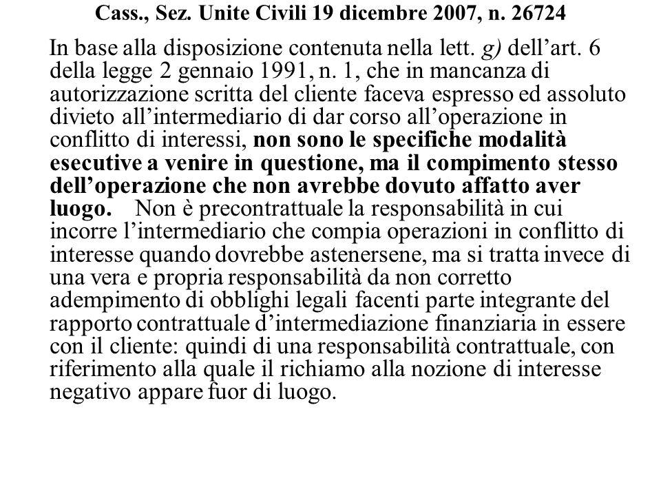 Cass., Sez. Unite Civili 19 dicembre 2007, n. 26724