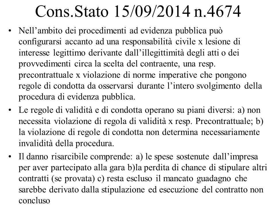 Cons.Stato 15/09/2014 n.4674