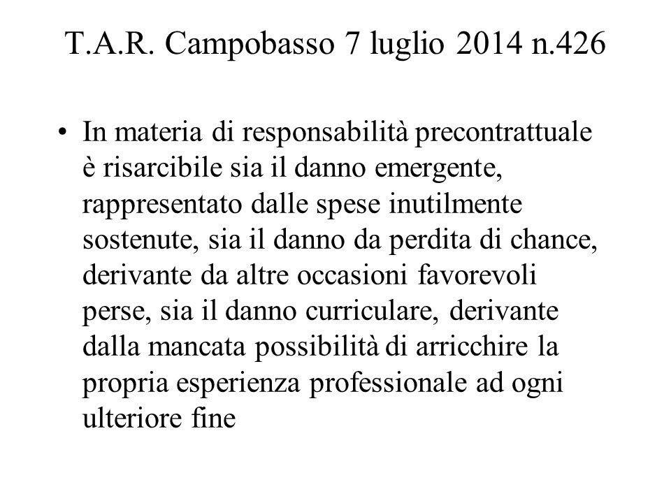 T.A.R. Campobasso 7 luglio 2014 n.426