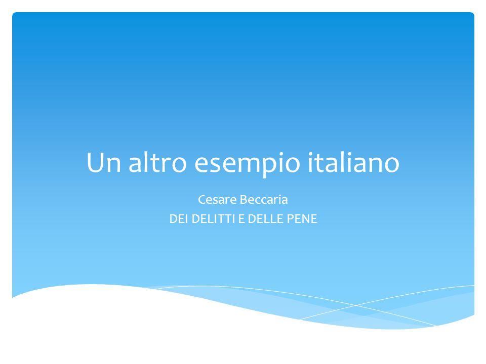 Un altro esempio italiano