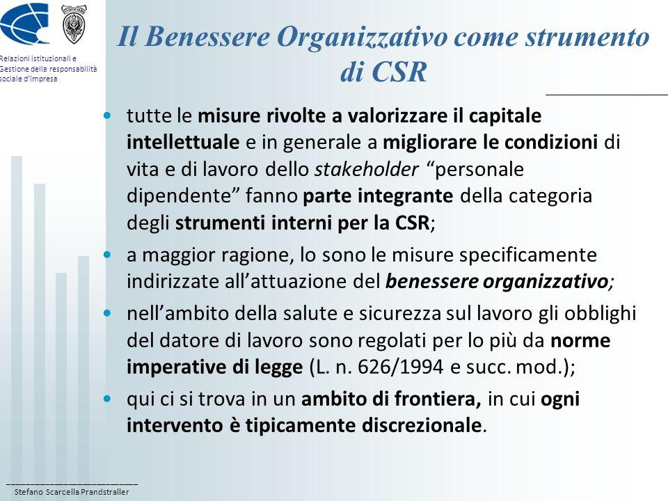 Il Benessere Organizzativo come strumento di CSR