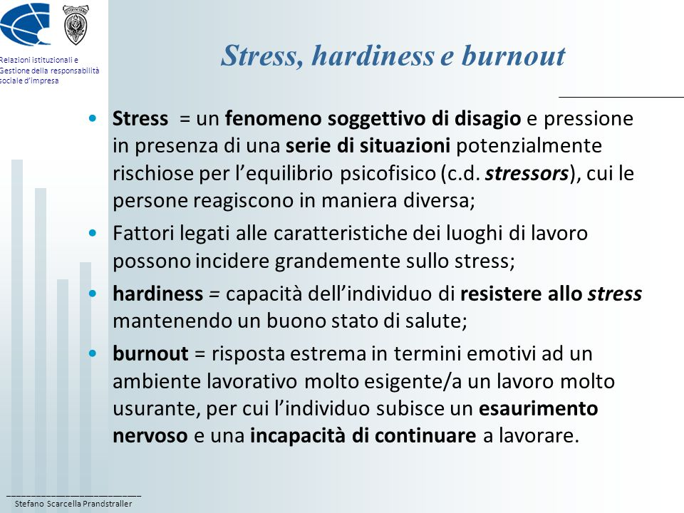 Stress, hardiness e burnout