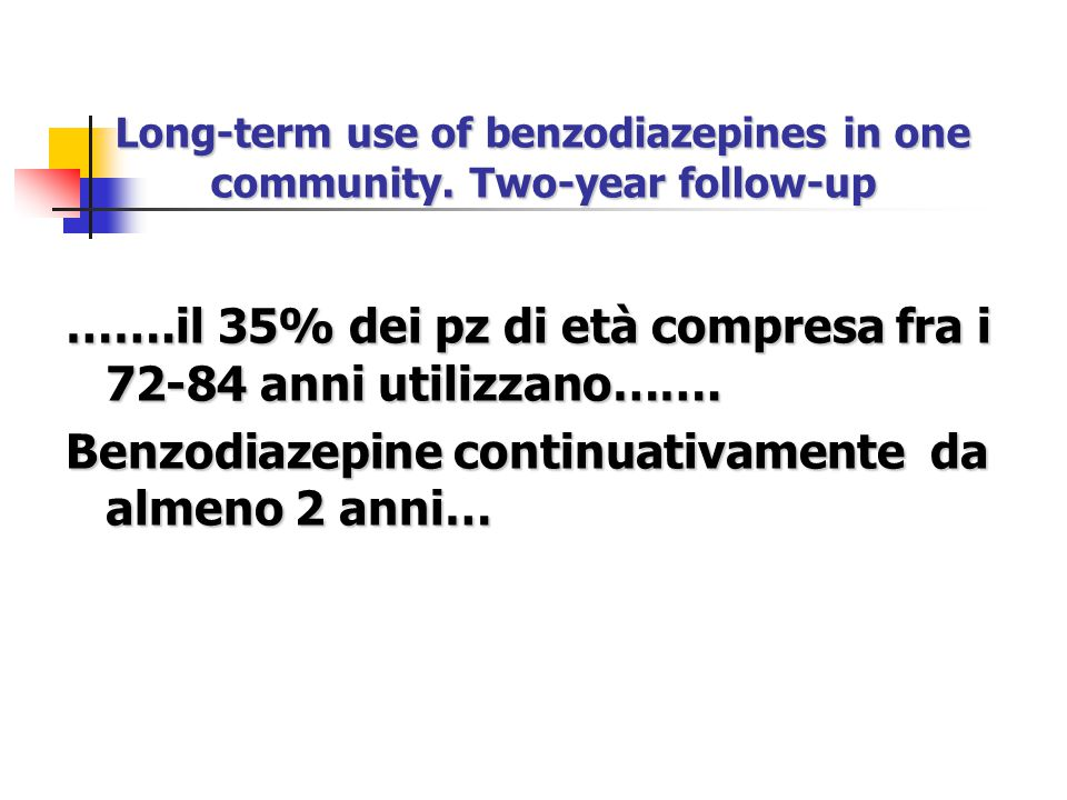 Long-term use of benzodiazepines in one community. Two-year follow-up