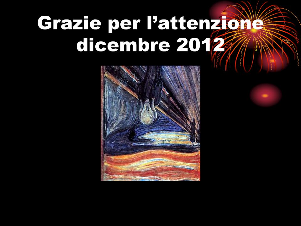 Grazie per l'attenzione dicembre 2012