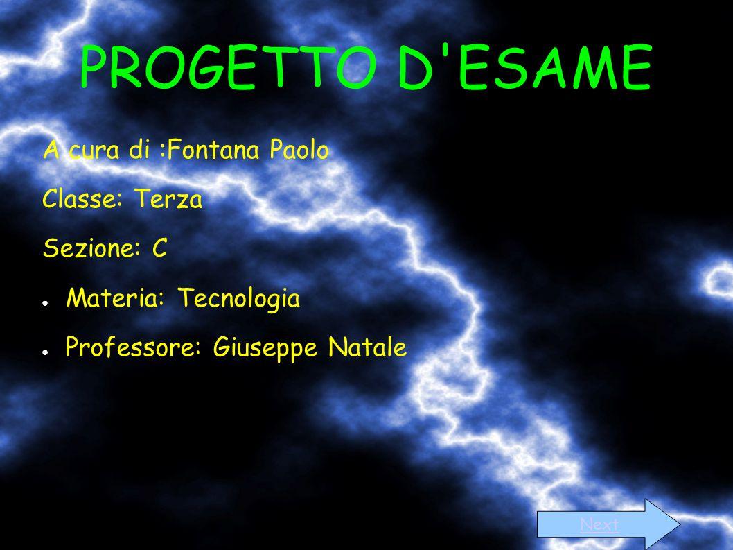 PROGETTO D ESAME A cura di :Fontana Paolo Classe: Terza Sezione: C