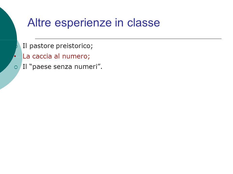Altre esperienze in classe