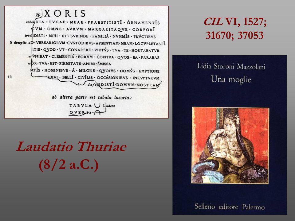 Laudatio Thuriae (8/2 a.C.)