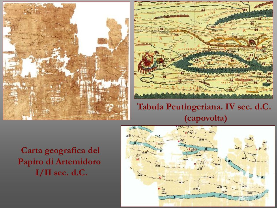 Tabula Peutingeriana. IV sec. d.C.
