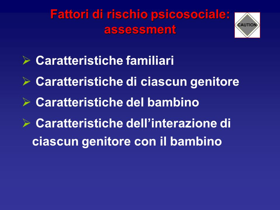 Fattori di rischio psicosociale: assessment