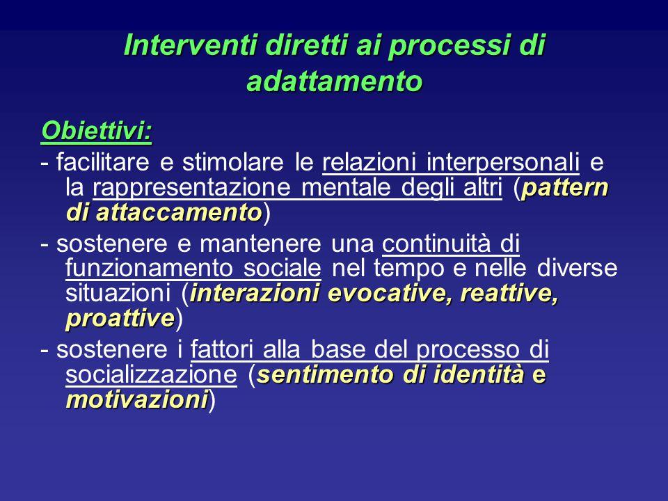 Interventi diretti ai processi di adattamento