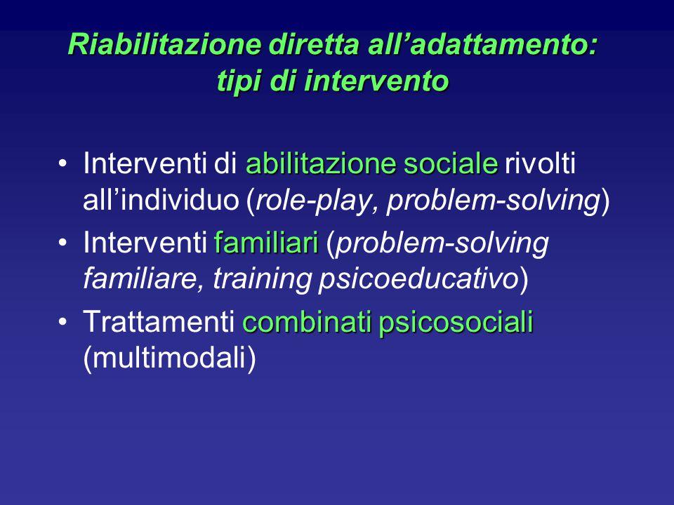 Riabilitazione diretta all'adattamento: tipi di intervento