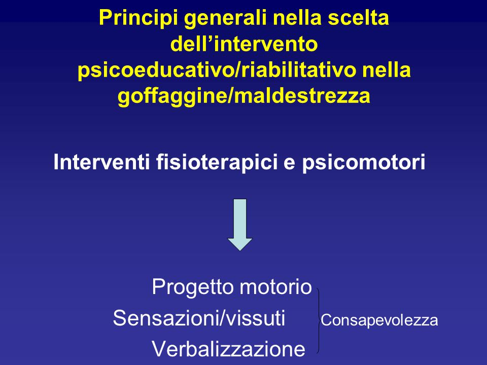 Interventi fisioterapici e psicomotori