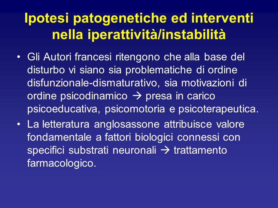 Ipotesi patogenetiche ed interventi nella iperattività/instabilità