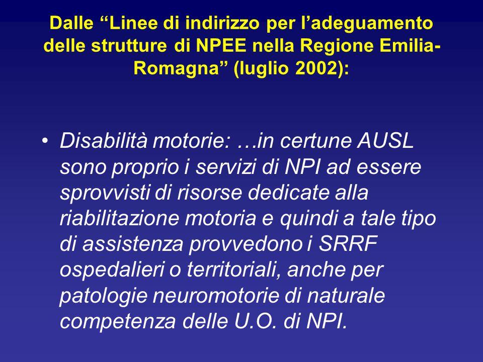Dalle Linee di indirizzo per l'adeguamento delle strutture di NPEE nella Regione Emilia-Romagna (luglio 2002):