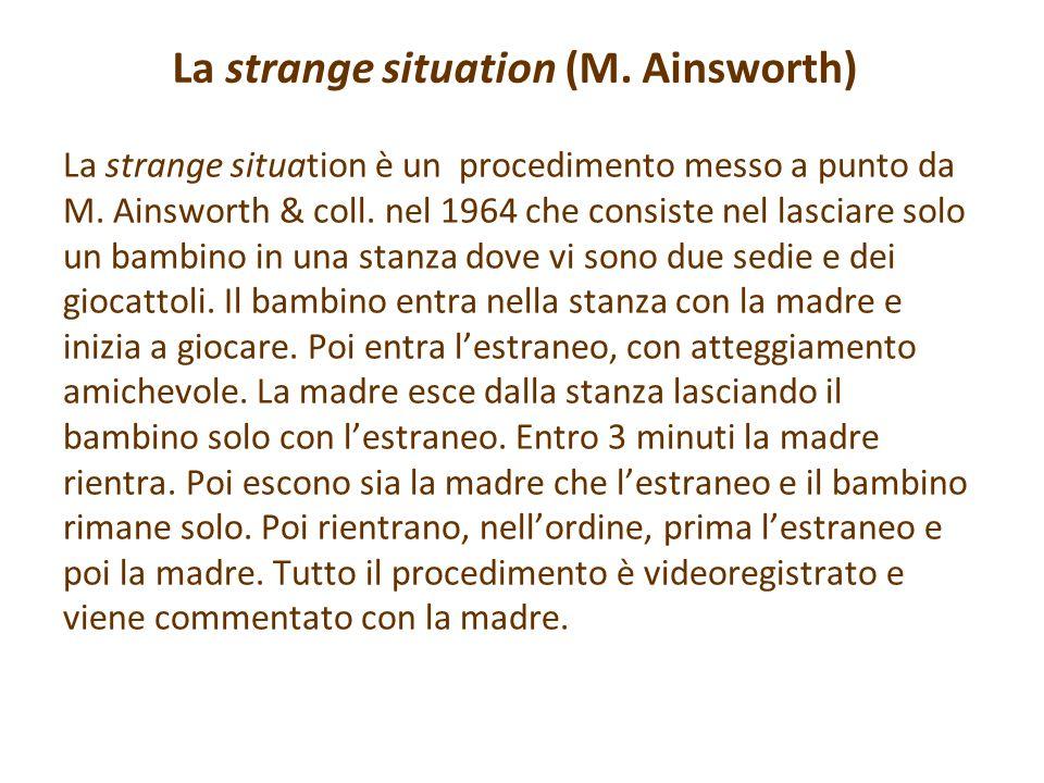 La strange situation (M. Ainsworth)