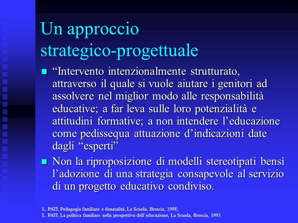 Un approccio strategico-progettuale