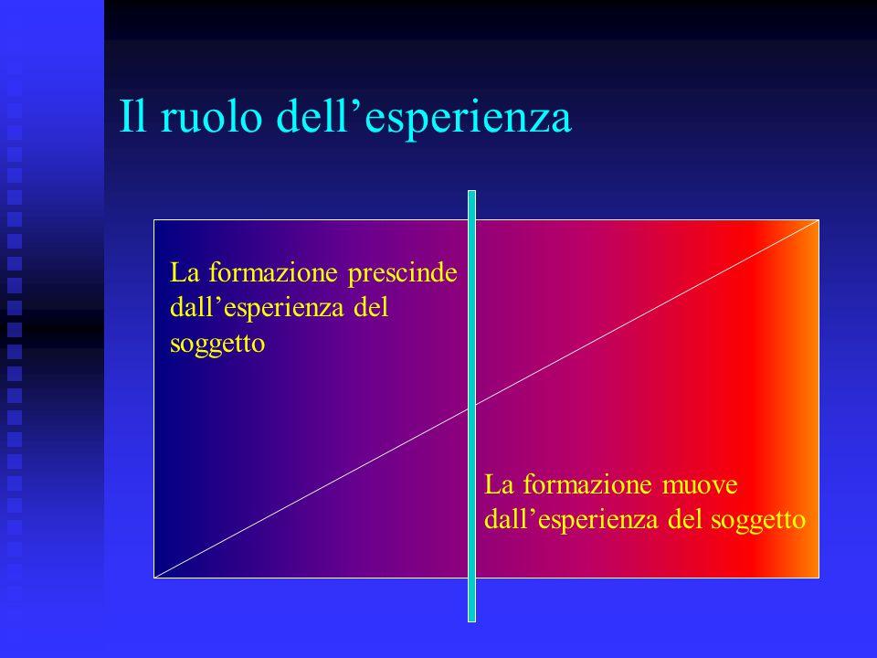 Il ruolo dell'esperienza