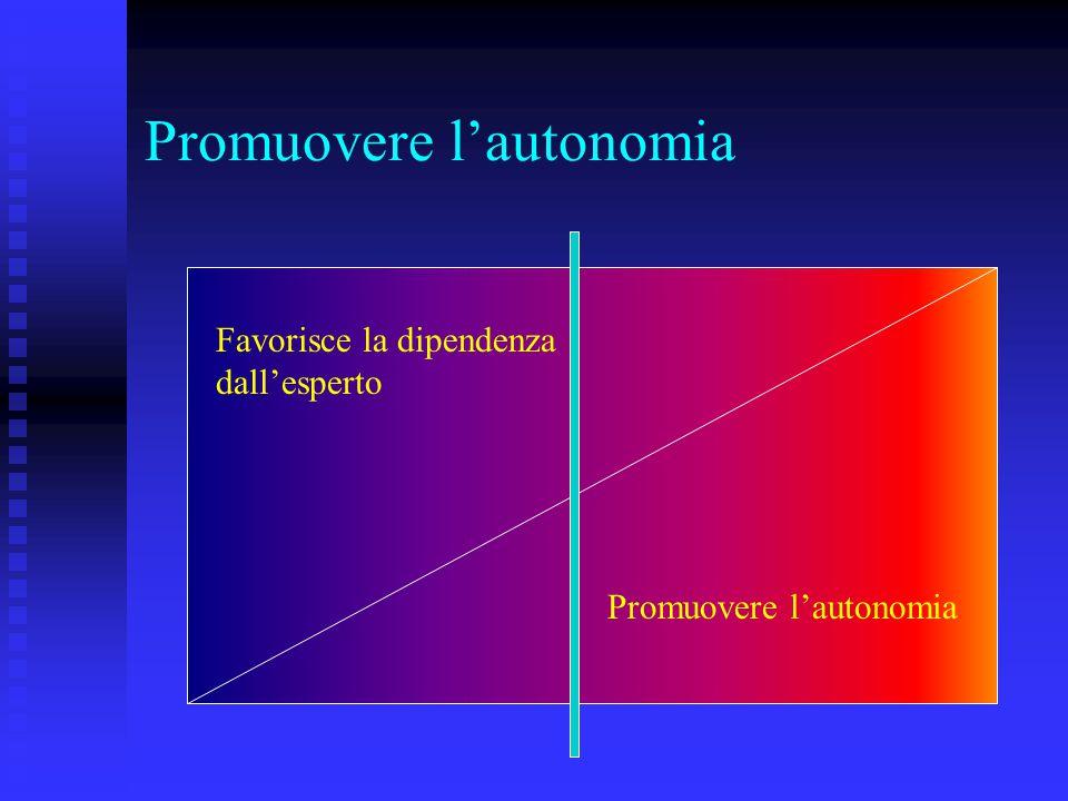 Promuovere l'autonomia