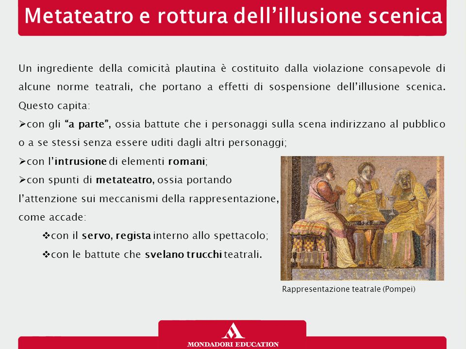 Metateatro e rottura dell'illusione scenica