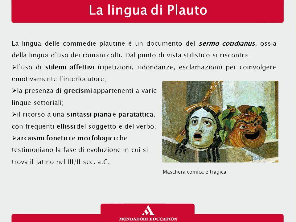 La lingua di Plauto 12/01/13.