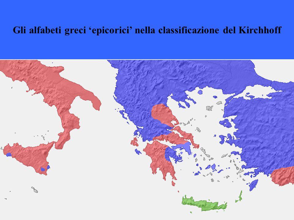 Gli alfabeti greci 'epicorici' nella classificazione del Kirchhoff