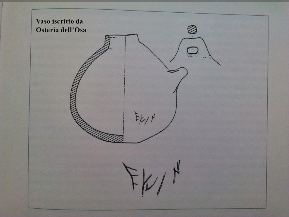 Vaso iscritto da Osteria dell'Osa
