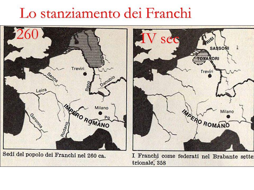 Lo stanziamento dei Franchi