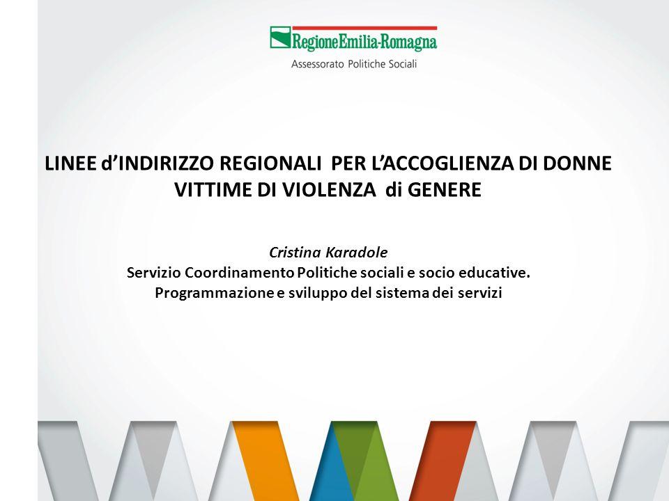 Servizio Coordinamento Politiche sociali e socio educative.