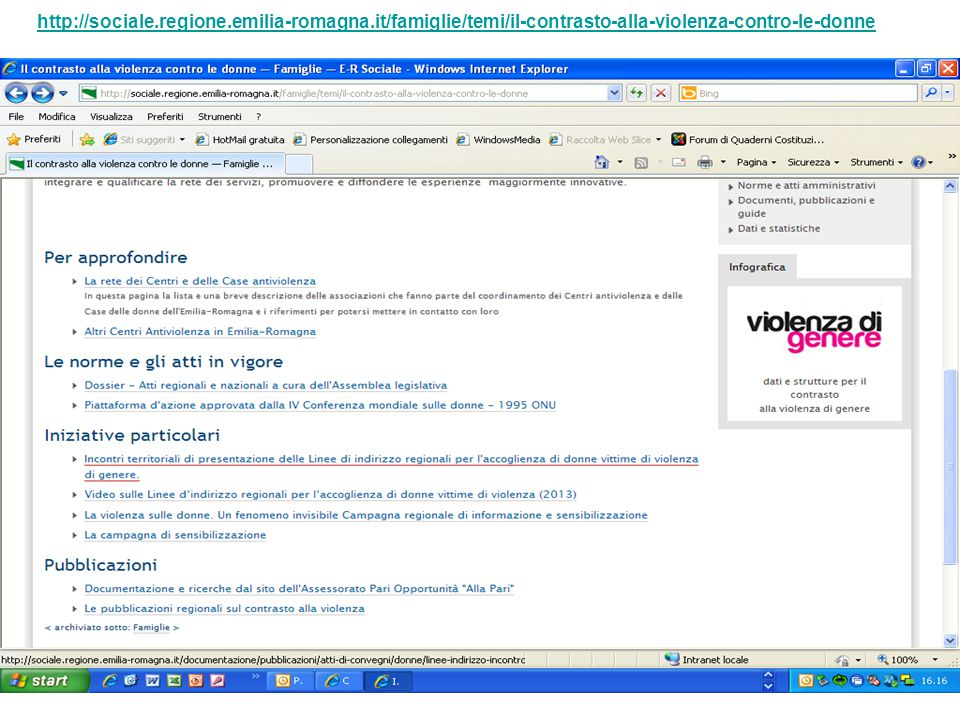http://sociale. regione. emilia-romagna